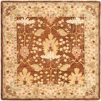 Safavieh Handmade Anatolia Oriental Oushak Brown/ Beige Hand-spun Wool Rug - 8' x 8' Square