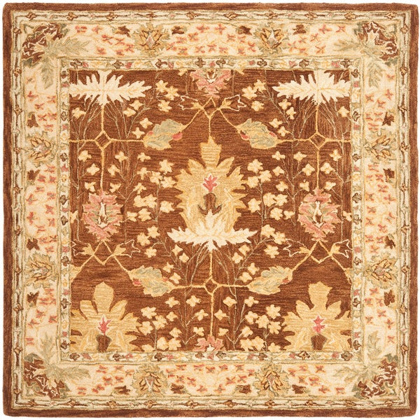 Safavieh Handmade Anatolia Oushak Brown/ Beige Wool Rug (8' Square)