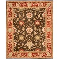 Safavieh Handmade Anatolia Oriental Kerman Olive/ Rust Hand-spun Wool Rug - 9'6 x 13'6
