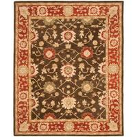 Safavieh Handmade Anatolia Oriental Kerman Olive/ Rust Hand-spun Wool Rug (5' x 8')
