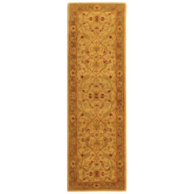 Safavieh Handmade Treasure Ivory/ Brown Wool Runner (2'3 x 16')