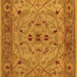 Safavieh Handmade Treasure Ivory/ Brown Wool Runner (2'3 x 16') - Thumbnail 2