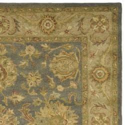 Safavieh Handmade Antiquities Jewel Grey Blue/ Beige Wool Rug (6' Square) - Thumbnail 1