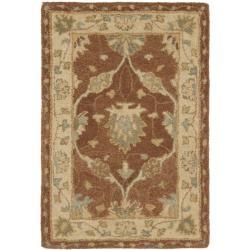 Safavieh Handmade Farahan Brown/ Taupe Wool Rug (2' x 3')