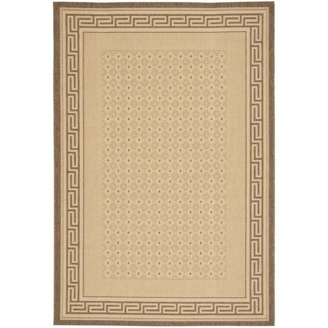 Safavieh Indoor/ Outdoor Natural/ Brown Rug (53 x 77)   13111068