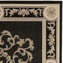 Safavieh Indoor/ Outdoor Sunny Black/ Sand Rug (7'10 Square)