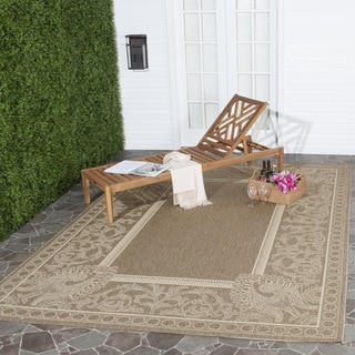 Safavieh Indoor/ Outdoor Abaco Brown/ Natural Rug (7'10 Square)