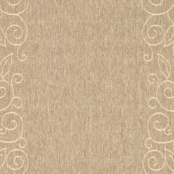 Safavieh Courtyard Scroll Border Dark Beige/ Beige Indoor/ Outdoor Rug (8' x 11') - Thumbnail 2