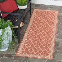 Safavieh Courtyard Trellis All-Weather Rust/ Sand Indoor/ Outdoor Rug (2'4 x 6'7) - 2'4 x 6'7