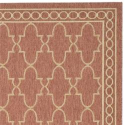 Thumbnail Safavieh Courtyard Trellis All Weather Rust Sand Indoor Outdoor Rug 8