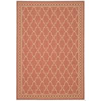 Safavieh Courtyard Trellis All-Weather Rust/ Sand Indoor/ Outdoor Rug - 8' X 11'