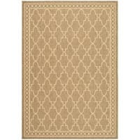 "Safavieh Courtyard Trellis All-Weather Dark Beige/ Beige Indoor/ Outdoor Rug - 2'7"" x 5'"