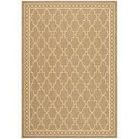 Safavieh Courtyard Trellis All-Weather Dark Beige/ Beige Indoor/ Outdoor Rug - 4' x 5'7