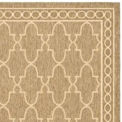 Safavieh Courtyard Trellis All-Weather Dark Beige/ Beige Indoor/ Outdoor Rug (6'7 x 9'6) - Thumbnail 1