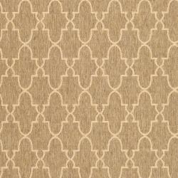 Safavieh Courtyard Trellis All-Weather Dark Beige/ Beige Indoor/ Outdoor Rug (6'7 x 9'6) - Thumbnail 2