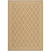 Safavieh Courtyard Trellis All-Weather Dark Beige/ Beige Indoor/ Outdoor Rug - 7'10' x 11'