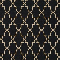 Safavieh Courtyard Trellis All-Weather Black/ Beige Indoor/ Outdoor Rug (8' x 11') - Thumbnail 2