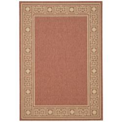 "Safavieh Indoor/Outdoor Rust/Sand Sun-Resistant Area Rug (4' x 5'7"")"