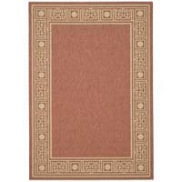 Safavieh Courtyard Rust/ Sand Indoor/ Outdoor Rug - 8' x 11'