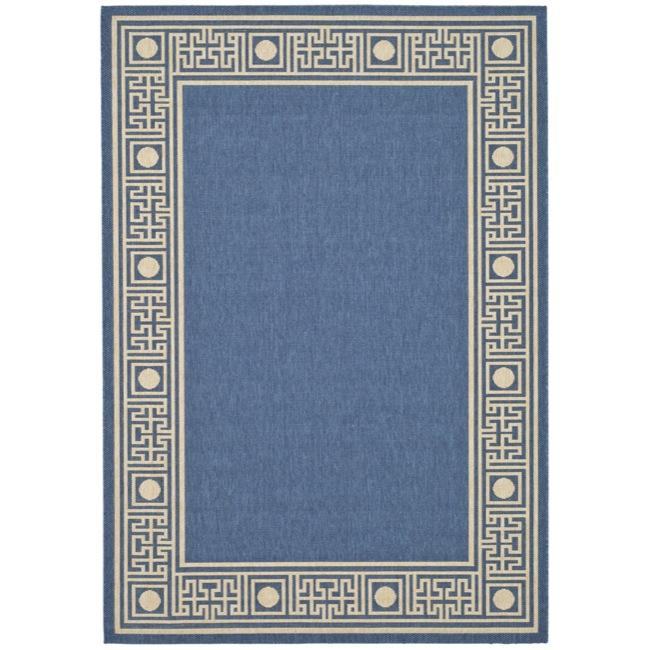 Safavieh Courtyard Blue/ Ivory Indoor/ Outdoor Rug (2'7 x 5')