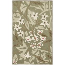 Safavieh Hand-hooked Patches Green Wool Runner (2'6 x 4')