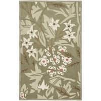 """Safavieh Hand-hooked Patches Green Wool Runner (2'6 x 4') - 2'-6"""" X 4'"""