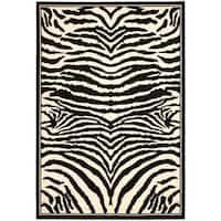 "Safavieh Lyndhurst Contemporary Zebra Black/ Ivory Rug - 5'3"" x 7'6"""