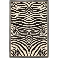 Safavieh Lyndhurst Contemporary Zebra Black/ White Rug - 6' x 9'