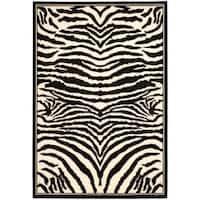 Safavieh Lyndhurst Contemporary Zebra Black/ White Rug (6' x 9') - 6' x 9'