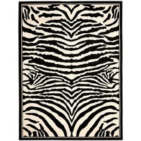 Safavieh Lyndhurst Contemporary Zebra Black/ Ivory Rug - 6' x 9'