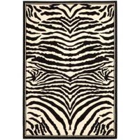 Safavieh Lyndhurst Contemporary Zebra Black/ White Rug - 8' x 11'