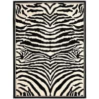 Safavieh Lyndhurst Contemporary Zebra Black/ Ivory Rug - 8' X 11'