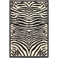 Safavieh Lyndhurst Contemporary Zebra Black/ White Rug - 9' x 12'