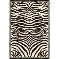Safavieh Lyndhurst Contemporary Zebra Black/ White Rug (8' 11 x 12' rectangle)