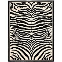 Safavieh Lyndhurst Contemporary Zebra Black/ Ivory Rug - 9' x 12'