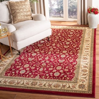 Safavieh Lyndhurst Traditional Oriental Burgundy/ Ivory Rug (8' 11 x 12' rectangle)