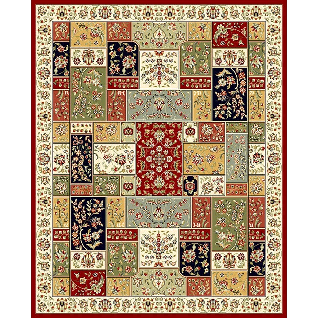 Lyndhurst Collection Traditional Multicolor/ Ivory Rug (9 X 12)