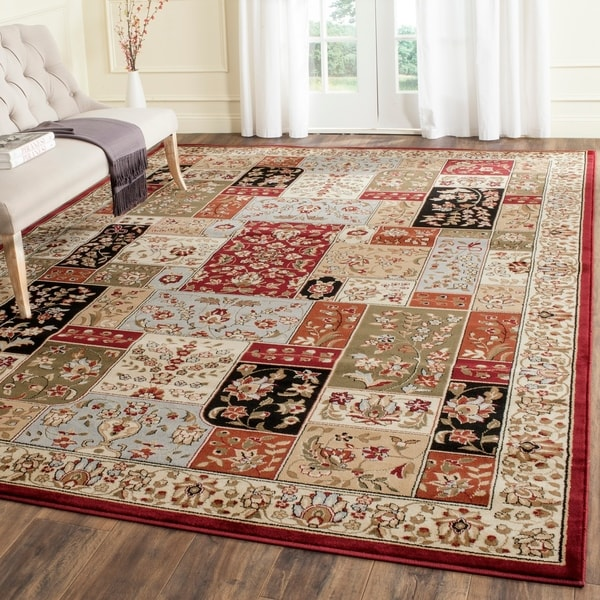 Safavieh Lyndhurst Collection Traditional Multicolor/ Ivory Rug - 9' x 12'