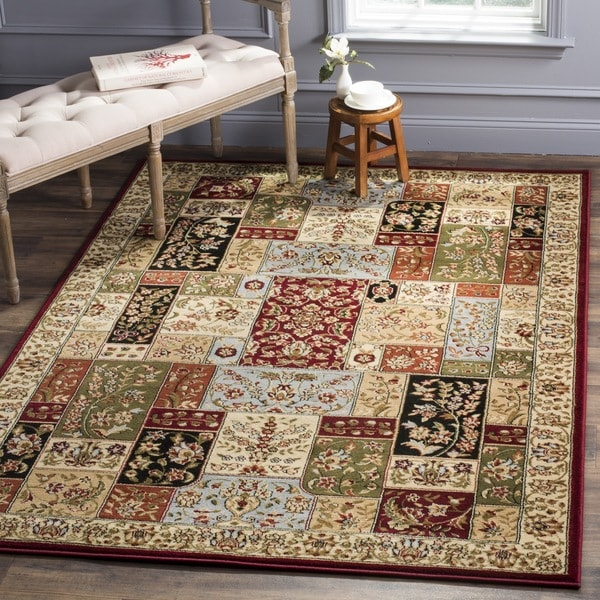 Safavieh Lyndhurst Collection Traditional Multicolor/ Ivory Rug (8' 11 x 12' rectangle)