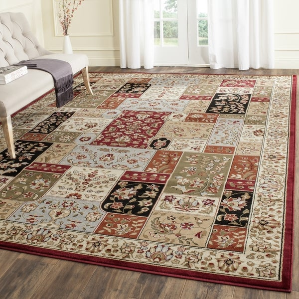 Safavieh Lyndhurst Collection Traditional Multicolor/ Ivory Rug (9' x 12')