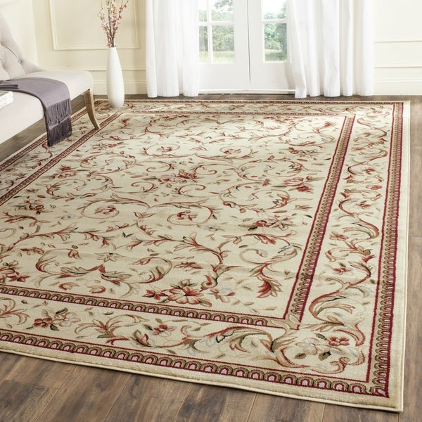 Safavieh Lyndhurst Collection Traditional Ivory/ Ivory Rug (9 x 12