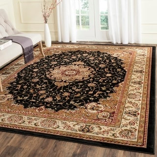 safavieh lyndhurst traditional oriental black ivory rug 9u0027 x 12u0027