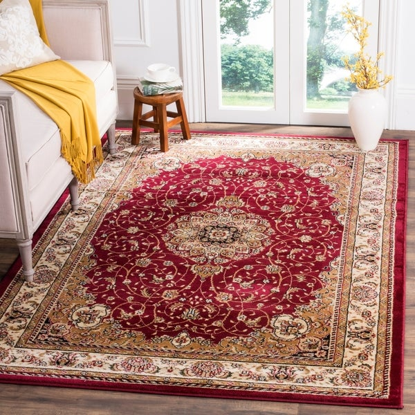 Safavieh Lyndhurst Traditional Oriental Red/ Ivory Rug - 8'11 x 12'