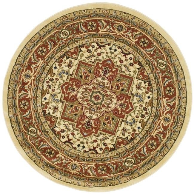 Safavieh Lyndhurst Traditional Oriental Ivory/ Rust Rug (5'3 Round)
