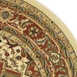 Safavieh Lyndhurst Traditional Oriental Ivory/ Rust Rug (5'3 Round) - Thumbnail 1