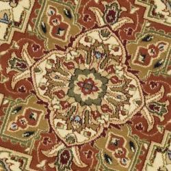 Safavieh Lyndhurst Traditional Oriental Ivory/ Rust Rug (5'3 Round) - Thumbnail 2