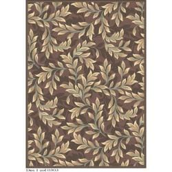 Safavieh Paradise Foliage Light Brown Viscose Rug (5'3 x 7'6)