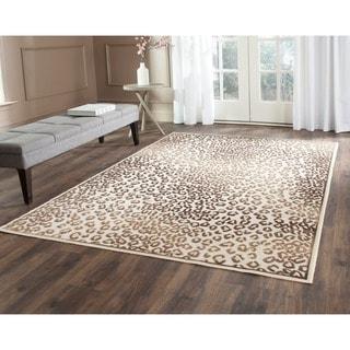 Safavieh Paradise Leopard Cream Viscose Rug (4' x 5'7)