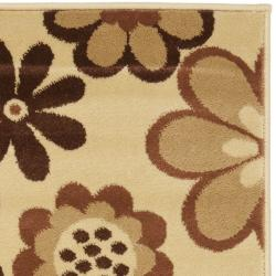 Safavieh Fine-spun Daises Floral Ivory/ Brown Rug (2'7 x 5')