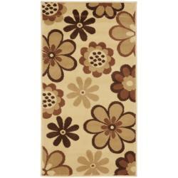 Safavieh Porcello Fine-spun Daises Floral Ivory/ Brown Rug (2'7 x 5')
